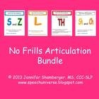 This bundle packet contains the following activity packets: No Frills Articulation: Th No Frills Articulation: Sh and Ch No Frills Articulation: L ...