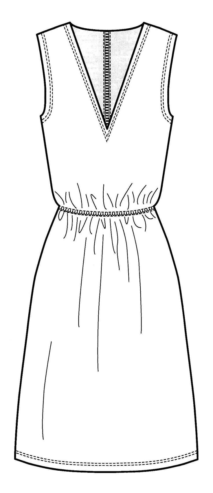 Line Drawing Dress : Best dress line drawings images on pinterest fashion