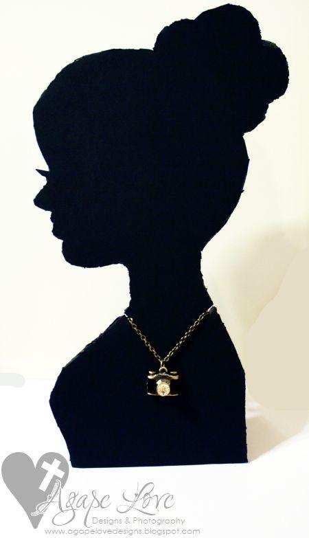 Cameo Silhouette Necklace Display {TUTORIAL}  via @MariaGridley Agape Love Designs