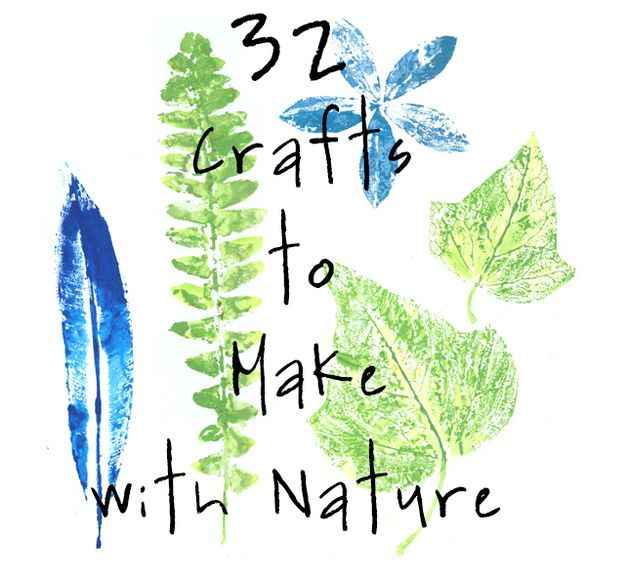 <b>Whether you are a kid, know a kid, or just want to pay homage to the great outdoors, these craft-store-free crafts are for you.</b>