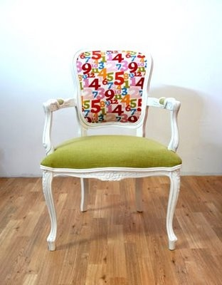 A very striking pop art parlor chair.  This one is sure to garner some attention.
