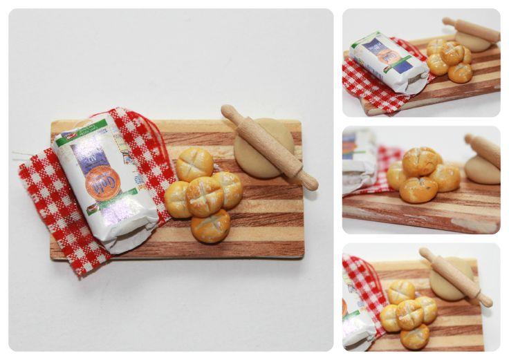 Broche: preparando  pan