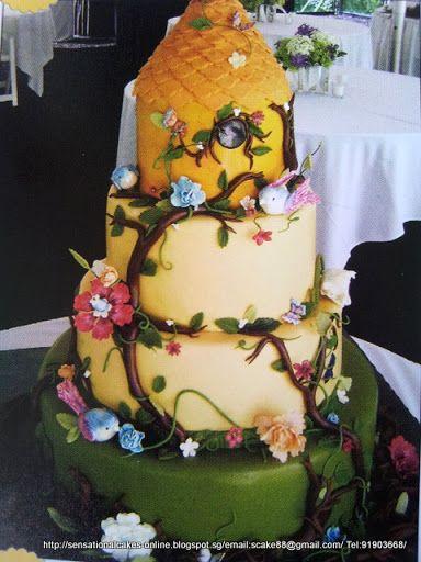 fantasy themed wedding cakes 2013 | Enchanted Fairies Fantasy Wedding Cake Singapore / 3 Tier Wedding Cake ...