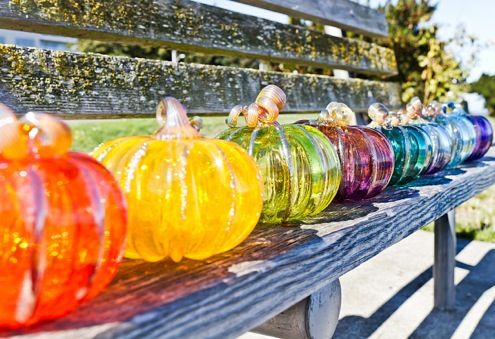 Visit West Seattle's Glass Pumpkin Patch - Seattle Art Glass Gallery & Glass Blowing Studio - Northwest Inspired Glass Art Made On-Site in West Seattle