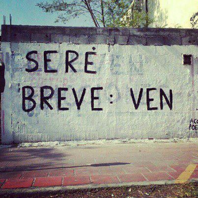 "#AcciónPoética ""Seré breve: VEN"""