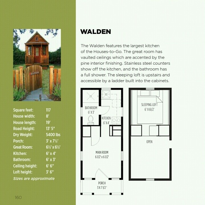 Walden tiny house floor plan | Tiny house project