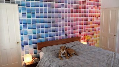 Paint chips make a focal wall!