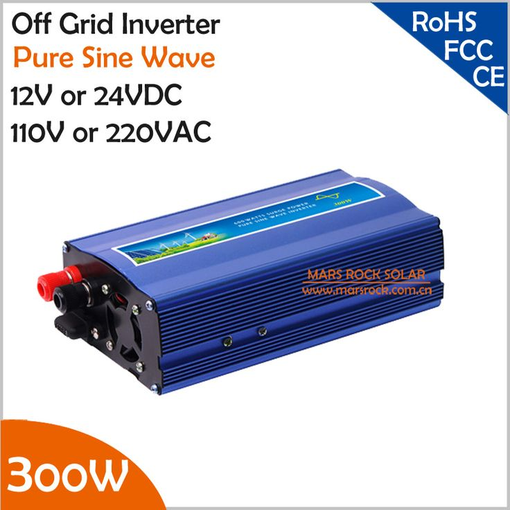 300W off grid inverter, 12V/24V DC to AC110V/220V pure sine wave inverter for small solar or wind power system, surge power 600W #Affiliate