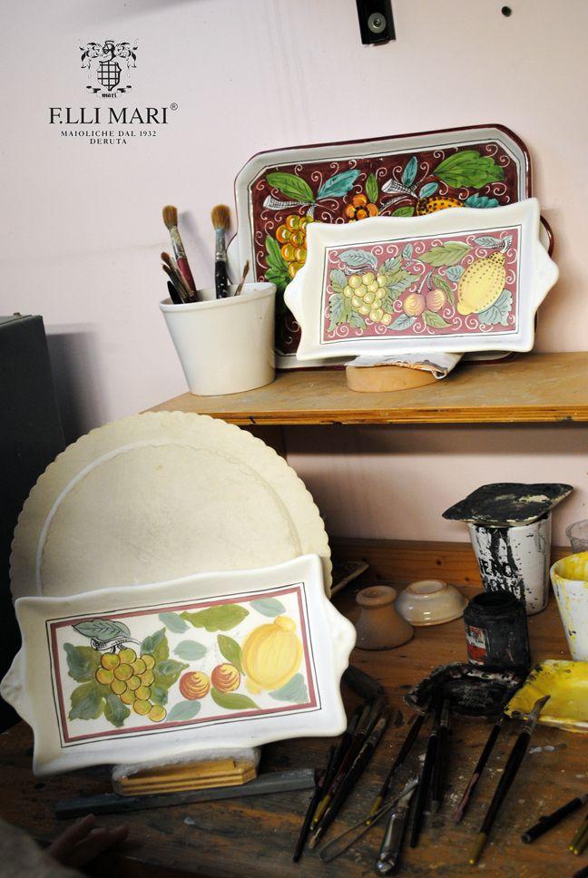 "Collection ""Tutti frutti"". Ceramics 100% Made in Italy. #italianceramics #handmade #madeinitaly"