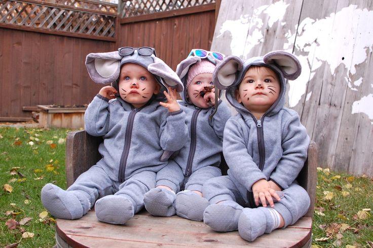 3 Blind Mice #diyhalloweencostume #babycostume #threeblindmice