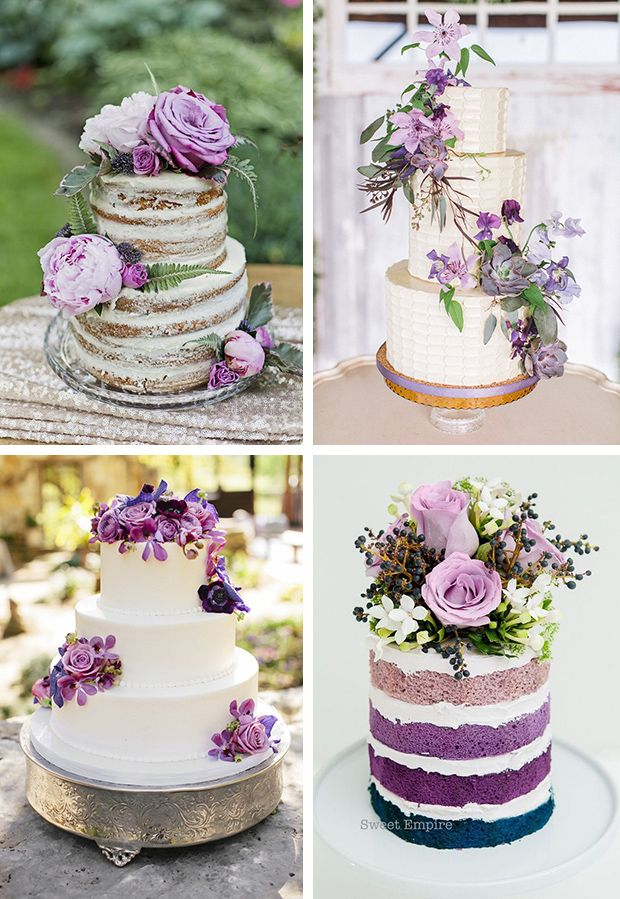 Trend Alert 30 Ideas For Purple Wedding Flowers Onefabday Com Wedding Cake Fresh Flowers Floral Wedding Cakes Wedding Cakes With Flowers