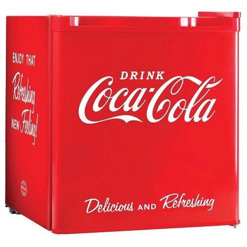 Mini Compact Refrigerator 1.7 Cubic Foot Ice Cube Tray Red Retro Fridge Freezer  #MiniCompactRefrigerator