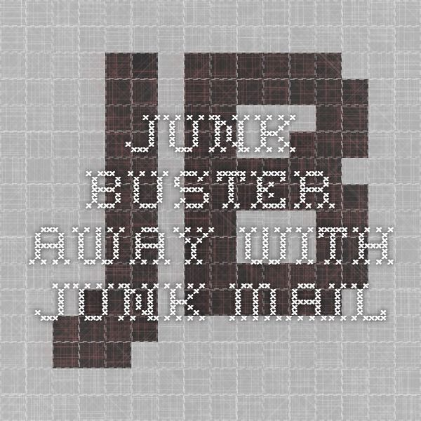 Junk Buster - Away with junk mail