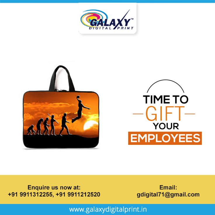 A great way to laud your employees!!    Get #laptop #bags printed with the logo of your company and #gift them to the employee of the month. Place your bulk order at - gdigital71@gmail.com   Visit http://qoo.ly/awajx    #printing #textileprinting #promotionalproduct #galaxydigitalprint