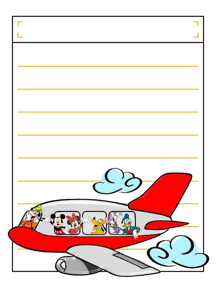 """Group on Plane with title box - Project Life Disney Journal Card - Scrapbooking. ~~~~~~~~~ Size: 3x4"""" @ 300 dpi. This card is **Personal use only - NOT for sale/resale** Logos/clipart belong to Disney. ***Click through to photobucket to see this this card with lots of different characters***"""