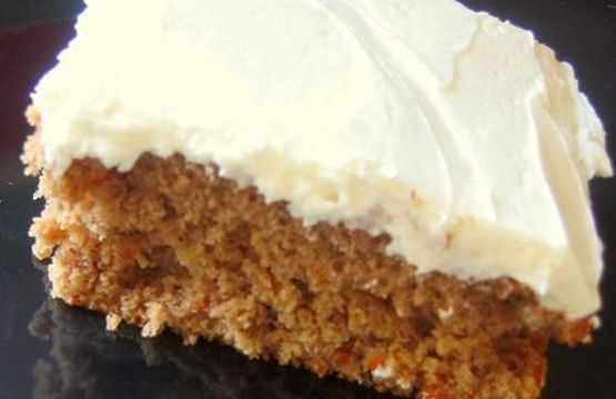 This is one of the best carrot cakes we have had.  It is from Kraft, and is SO easy.  I changed it a tad, by adding golden raisins to my liking, and I made it in a 11x13 pan, and added baking time to it until it tested done as directed. The prep time was based on shredding the carrots, but buying the prepared carrots cuts the prep time to about 10 minutes!