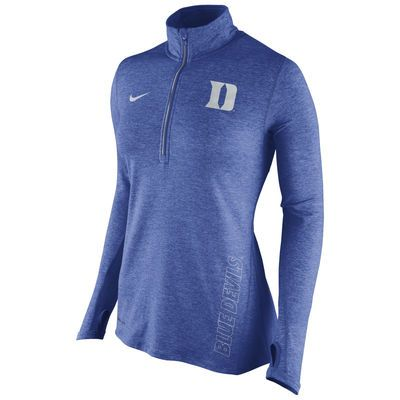 Nike Duke Blue Devils Women's Royal Stadium Element 1/2 Zip Performance Jacket