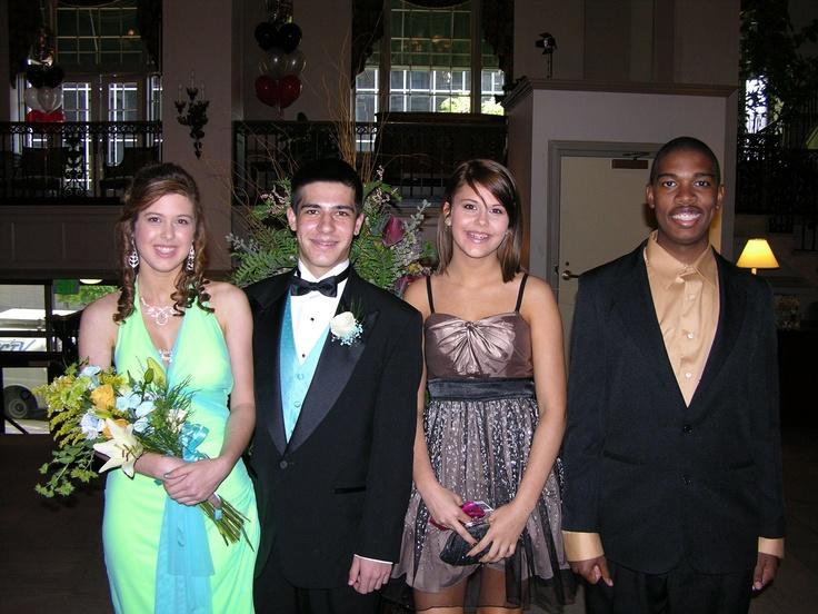 Brigette Landis, Jeff Vontor, Macy Landis and Kristopher Horsey at the Pottstown High School prom.