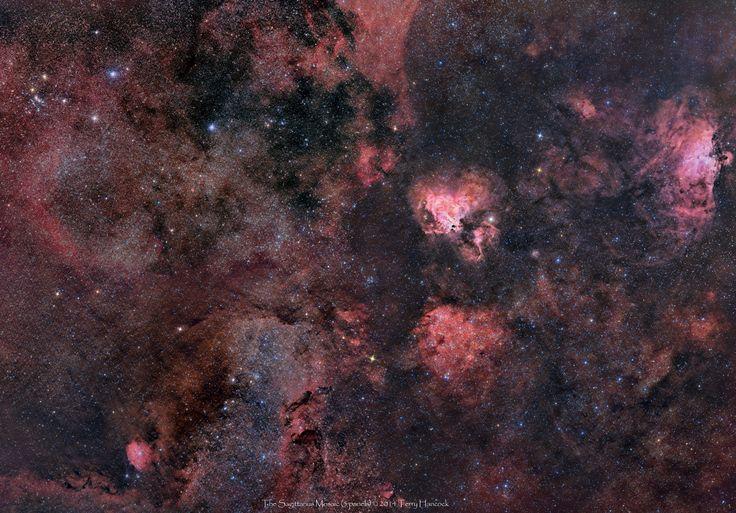 Paisaje estelar en Sagittarius