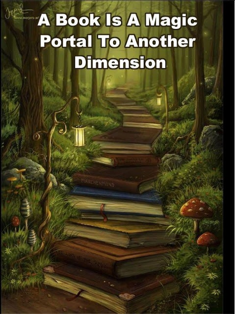 A #Book is a magic portal to another dimension.
