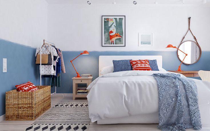 Camera da letto in stile scandinavo 16