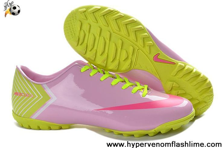 Latest Listing Nike Mercurial Vapor X TF Pink Red Green Soccer Boots For Sale