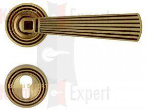 Klamka OPERA 112 z dolną rozetą kolor BM brązowiony matowy