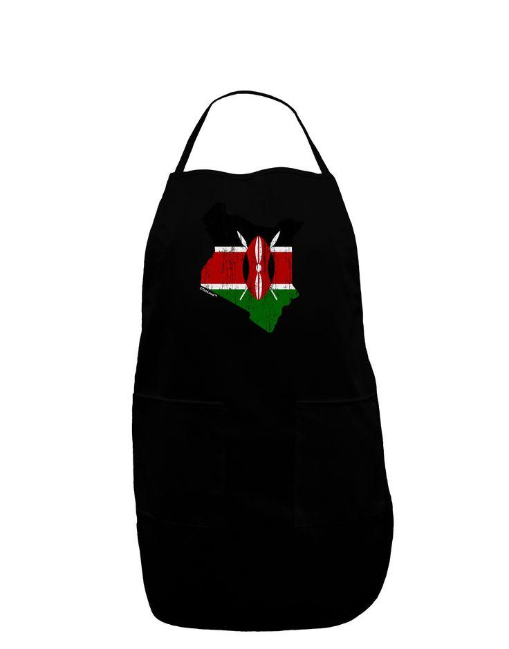 TooLoud Kenya Flag Silhouette Distressed Plus Size Apron