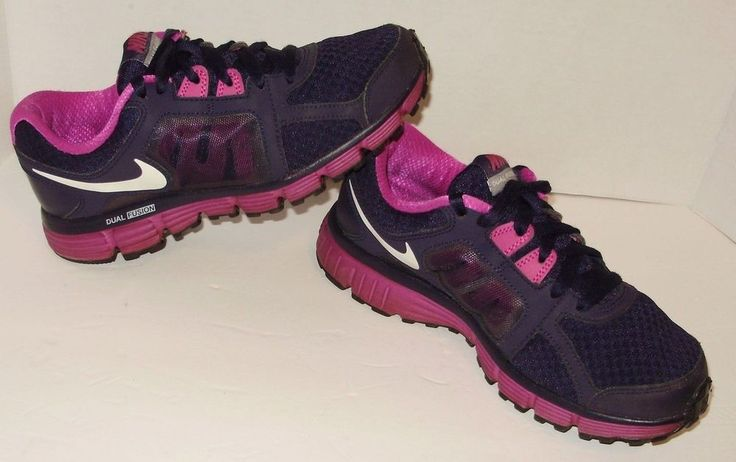Nike Dual Fusion Womens Nike Shoes Sneakers Size 7 Navy Magenta Lace Up A51 #Nike #LowTop