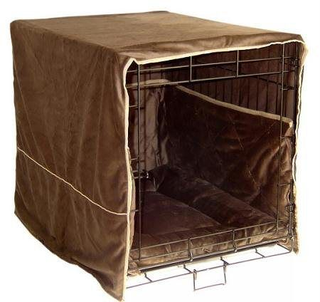 Dog Supplies Plush Dog Crate Cover - Small / Coco Brown [Misc.] - http://www.thepuppy.org/dog-supplies-plush-dog-crate-cover-small-coco-brown-misc/