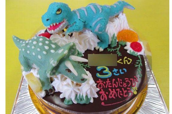 ティラノサウルスとトリケラトプス恐竜立体ケーキ オリジナルケーキ