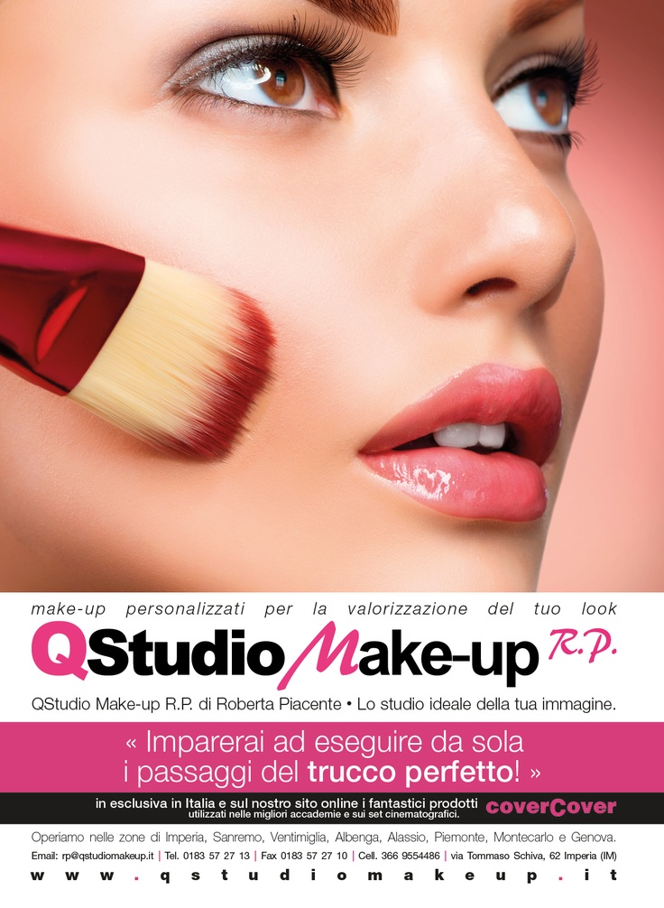 Trucco e Bellezza - Corsi di Make up nel Nord Italia e in Costa Azzurra. E-commerce cover cover su http://shop.qstudiomakeup.it. Taste our brand!