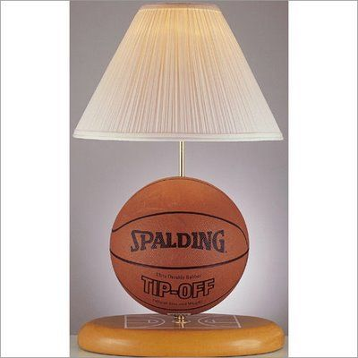 I want to do this with the Basketball my Sister n law had everyone sign at my baby shower Basketball Room Decorating Ideas | Great idea – make your own basketball lamp. Purchase a make a lamp ...