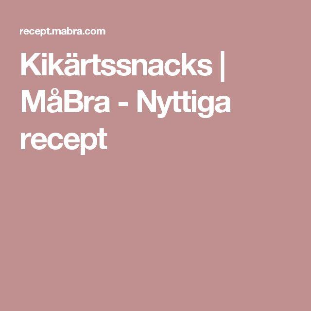 Kikärtssnacks | MåBra - Nyttiga recept