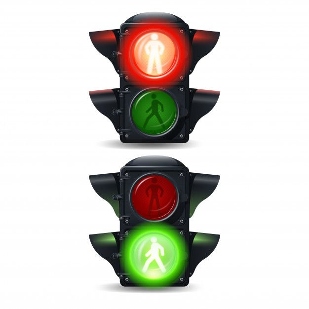 Realistic Stop And Go Pedestrian Traffic Free Vector Freepik Freevector City Light Green Road In 2020 Traffic Light Pedestrian Everyday Objects