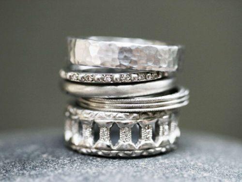 Stack em' :): Stackable Rings, Cathy Waterman, Platinum Ring, Gold Rings, Fashion Blog, Cathywaterman, Stacking Rings, Wedding Rings, Silver Rings