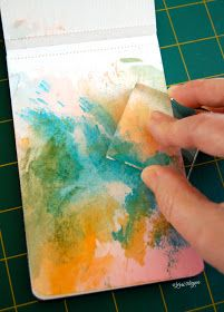 STAMPING WITH YOUR ACRYLIC BLOCK! to achieve a Watercolor look!! elvie studio: inspiration monday.
