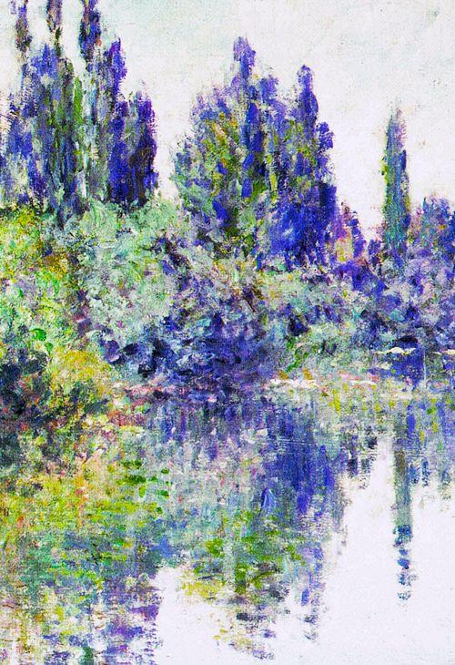 Claude Monet - Morning on the Seine, near Vetheuil, 1878 #art #painting