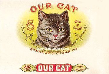 Our Cat- cigar box label