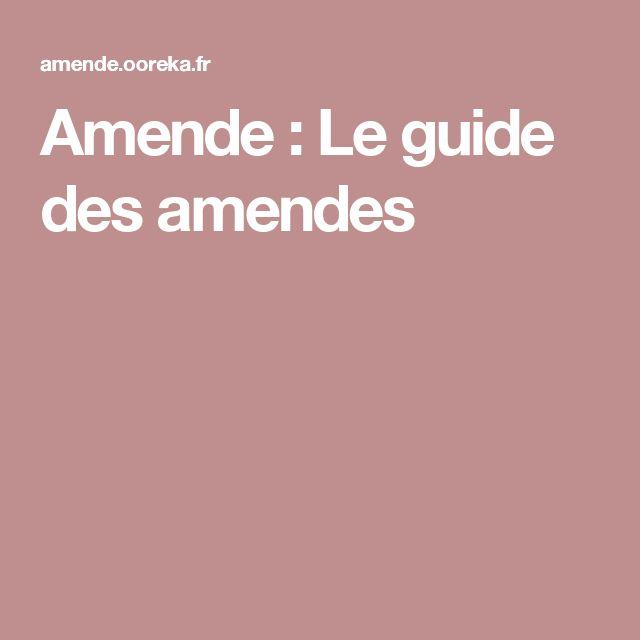 Amende : Le guide des amendes