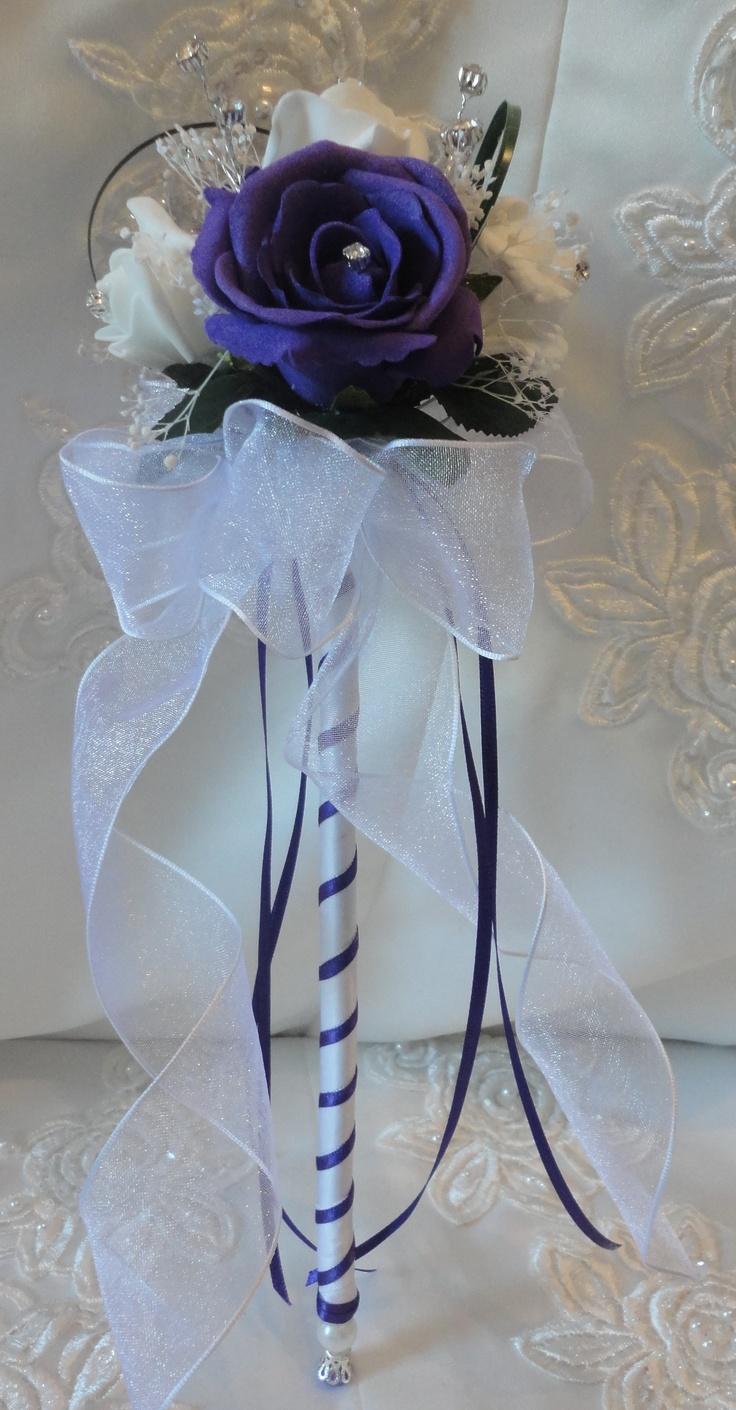 flower wand for flower girl so cute if we can't do glitter:)
