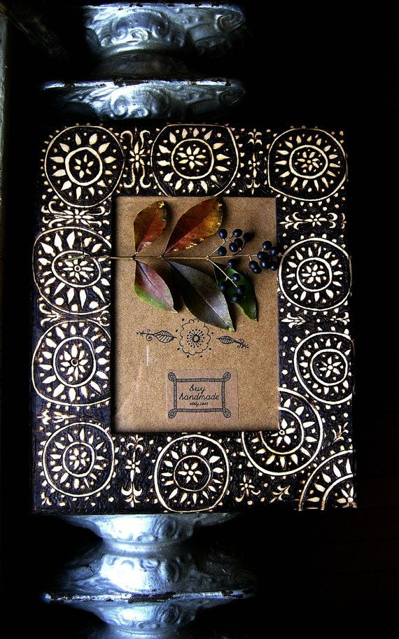 custom flower-circle  frame, ooak wood burning housewares, emblazoned, brown and white abstracted style, burnedfurniture