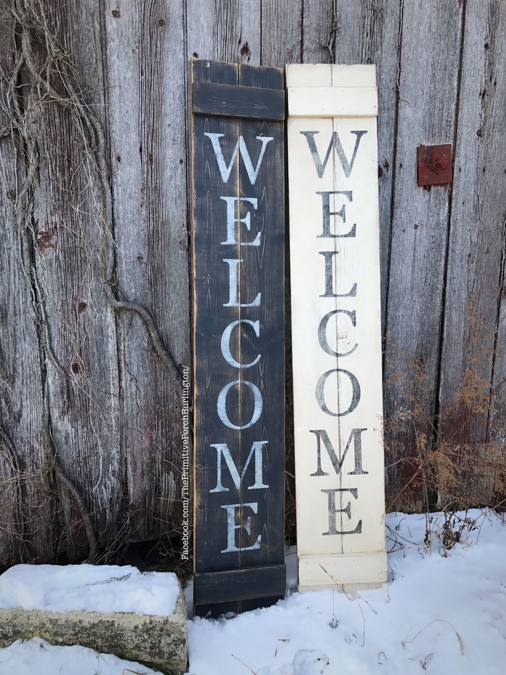 Tall welcome sign. Great for all year outside decor. Wooden rustic sign. Porch decor. Handmade. 5.5 feet tall. $39.