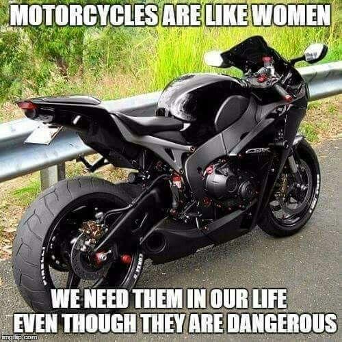 Sportbikes are like women meme