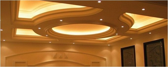 Round False Ceiling With Hidden Lights Ceiling