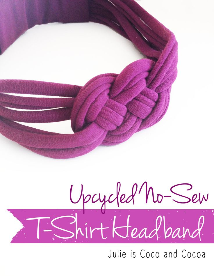 Upcycled No-Sew Knotted T-Shirt Headband #BringingInnovation #ad