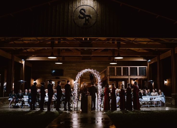 Evening Wedding. Indoor and outdoor venue at The Barn near ...