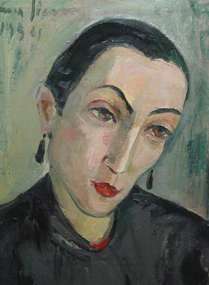 'Portrait of Ursula' (1954) by South African painter Irma Stern (1894-1966). via South Africa Jewish Museum