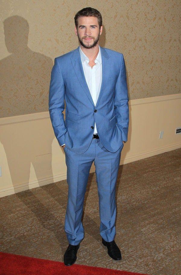 Love Liam Hemsworth's baby blue suit