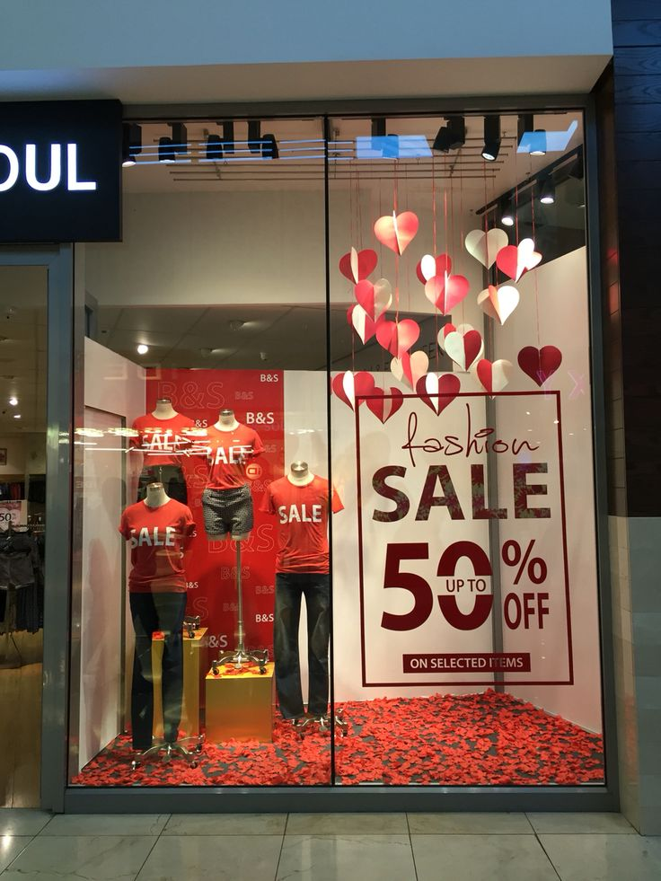 Sale window display